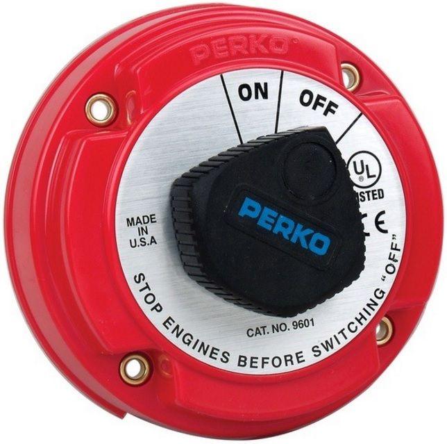 Chave Geral Perko 9601 para 1 Bateria 250A Contínuos