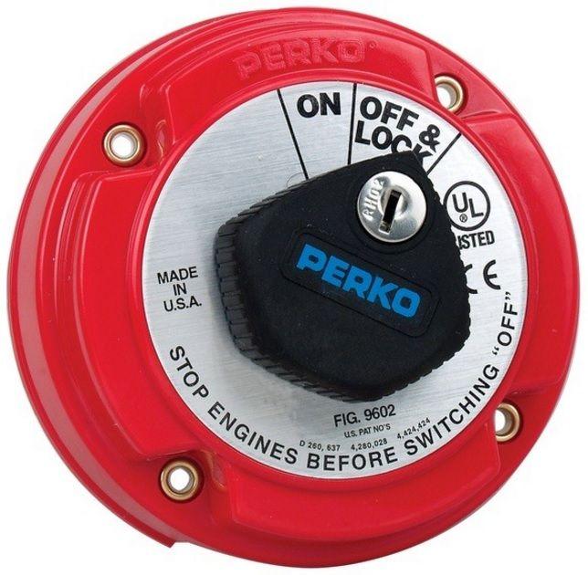 Chave Geral Perko 9602 para 1 Bateria 250A Contínuos com Chave para Trava