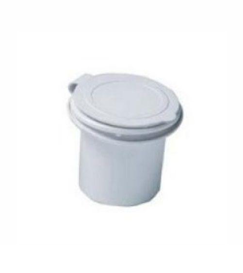 Chuveiro de Popa Retrátil (Kit Ducha Completo) Branco c/ Mangueira 5,0m, Gatilho e Base c/ Tampa