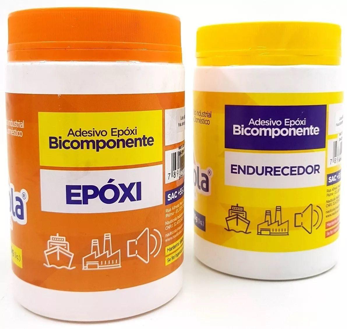 Cola Resina Epoxi Nauticola Adesivo Tipo Araldite 1,7 kg Componente A + B Impermeabilizante