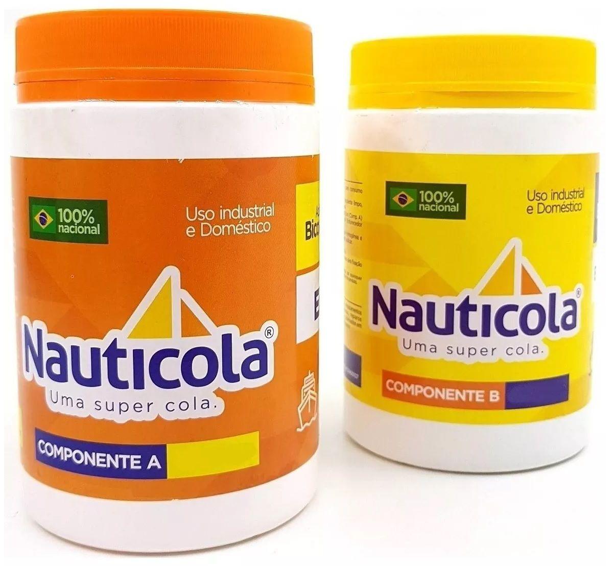 Cola Resina Epoxi Nauticola Adesivo Tipo Araldite 410g Componente A + B Impermeabilizante