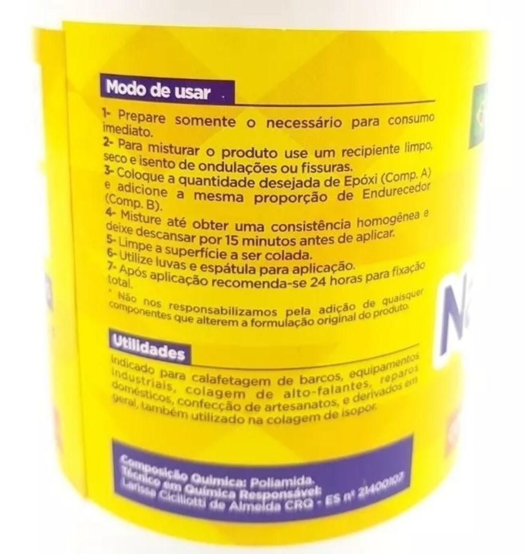 Cola Resina Epoxi Nauticola Adesivo Tipo Araldite 5,6 kg Componente A + B Impermeabilizante
