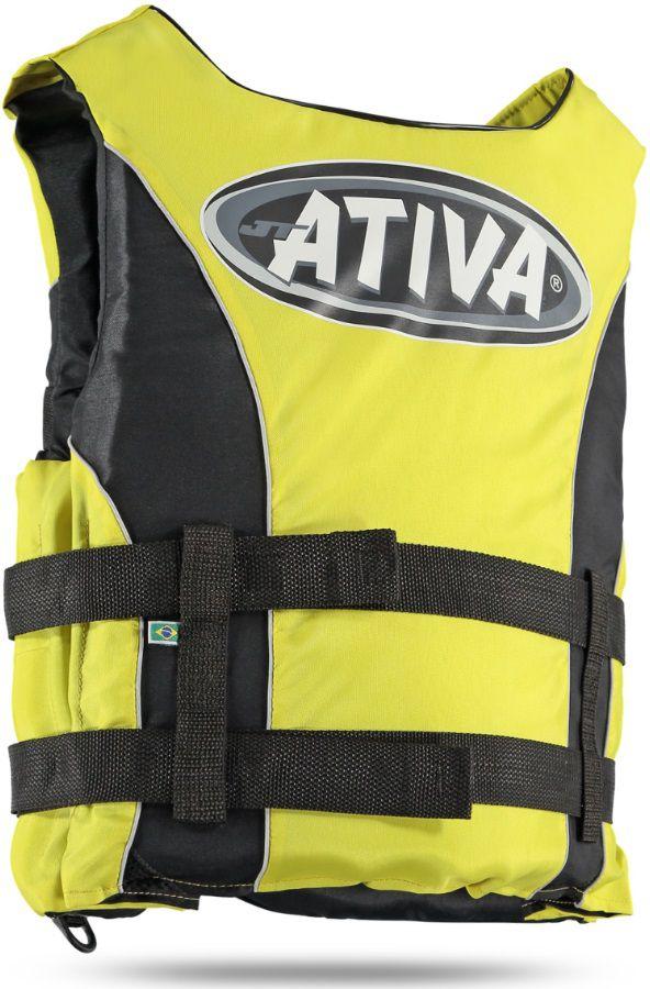 Colete Salva-Vidas Esportivo Ativa 55 Classe V Homologado Jet Ski Lancha Tamanho G Amarelo