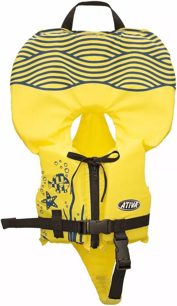 6dc70ff6d Colete Salva-Vidas Infantil Ativa Baby Homologado pela Marinha Amarelo Classe  V Até 25kg