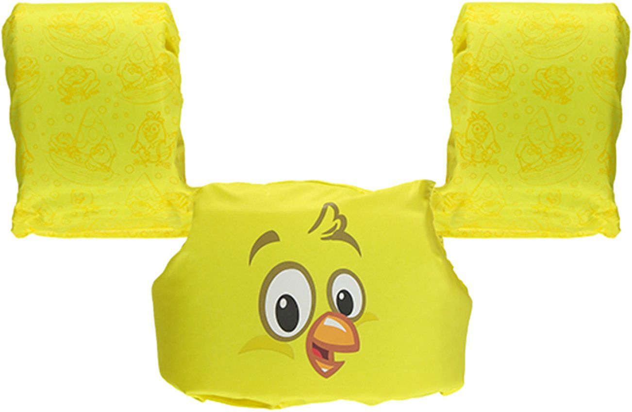 Colete Salva-Vidas Infantil Ativa Kids Galinha Pintadinha Homologado Amarelo Classe V Até 25 Kg
