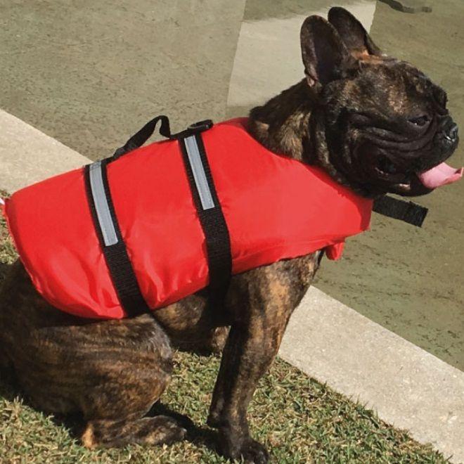Colete Salva-Vidas para Cachorros e Gatos Tamanho M até 18 kg em Poliéster 210D