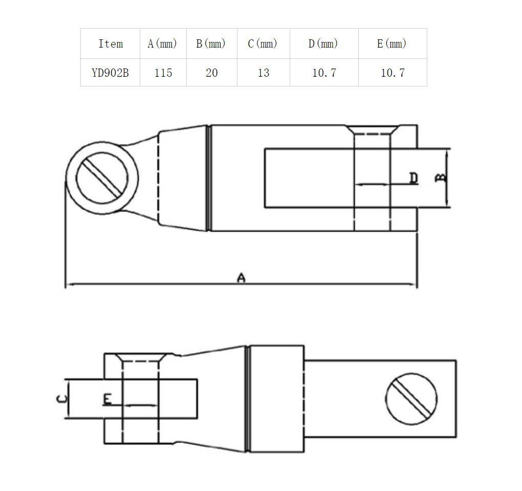 Conector Distorcedor para Âncora e Corrente Calibrada de 10mm a 12mm em Aço Inox