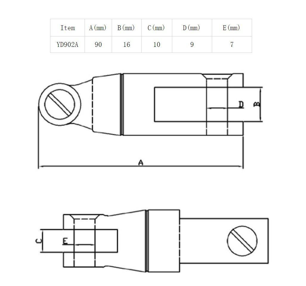 Conector Distorcedor para Âncora e Corrente Calibrada de 6mm a 8mm em Aço Inox