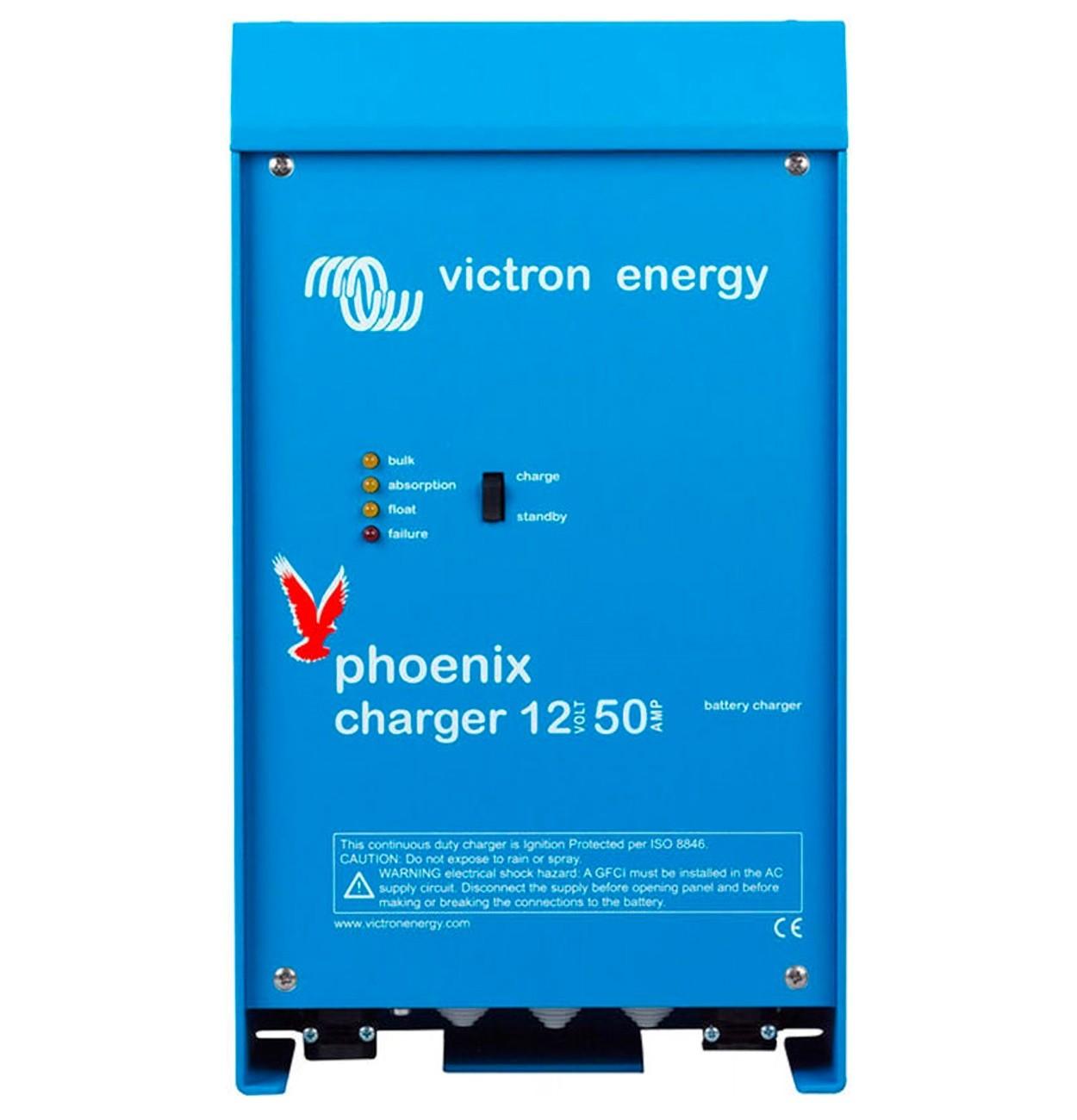 Controlador de Carga (Carregador) de Bateria Náutico Victron Phoenix IP21 12V 50A para Barcos e Lanchas