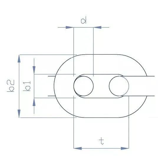 Corrente 10mm Calibrada de Aço Galvanizado DIN 766 (o metro) para Âncora Barcos Lanchas
