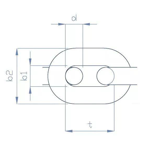 Corrente 8mm Calibrada de Aço Galvanizado DIN 766 (o metro) para Âncora Barcos Lanchas