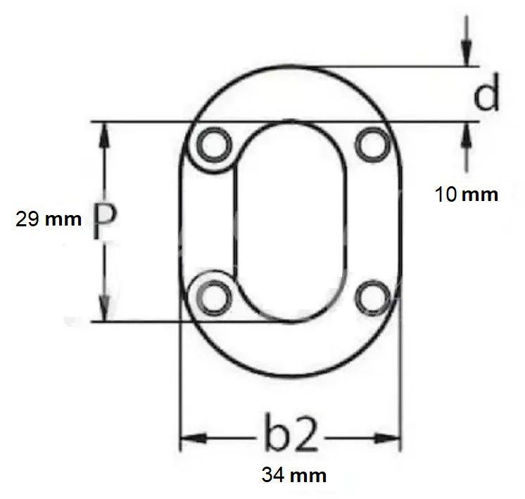 Elo Conector de Corrente 10mm em Aço Inox Calibrado DIN 766 para Âncora Barcos Lanchas