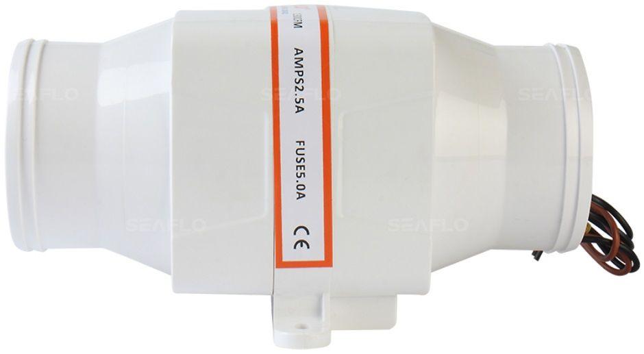 """Exaustor (Blower) de Ventilação Náutico 3"""" Horizontal 130 CFM 12V Linear"""