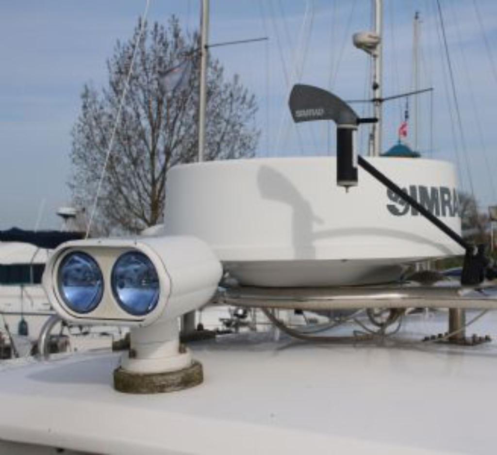Farol de Busca Direcional Duplo 12V para Embarcações com Controle Remoto Lâmpada 2 x 55W