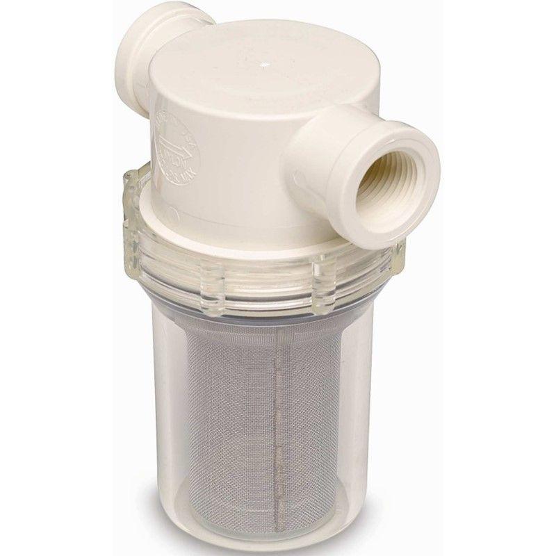 """Filtro de Água Bruta Salgada Shurflo 1-1/4"""" para Barcos e Lanchas"""