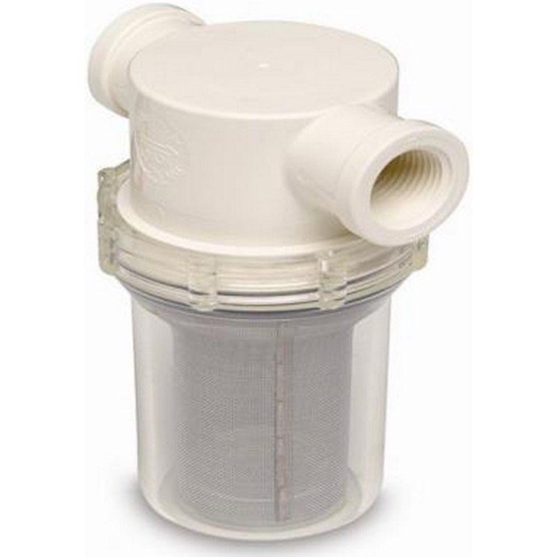 """Filtro de Água Bruta Salgada Shurflo 1"""" para Barcos e Lanchas"""