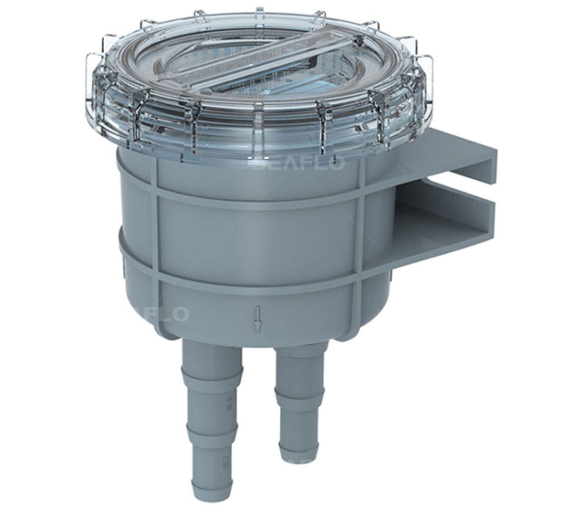 Filtro de Água p/ Entrada de Bomba de Água Doce ou Salgada 151x108mm Seaflo SF-SWF002 p/ Barcos