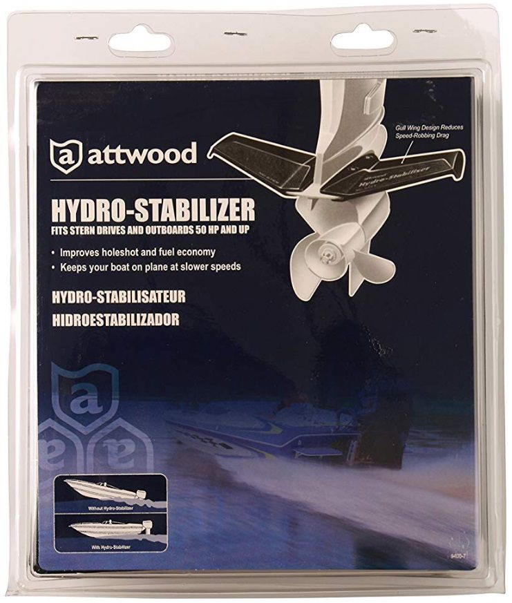 Flap Hidrofólio Estabilizador para Motor de Popa Até 50 HP Attwood 9401-7