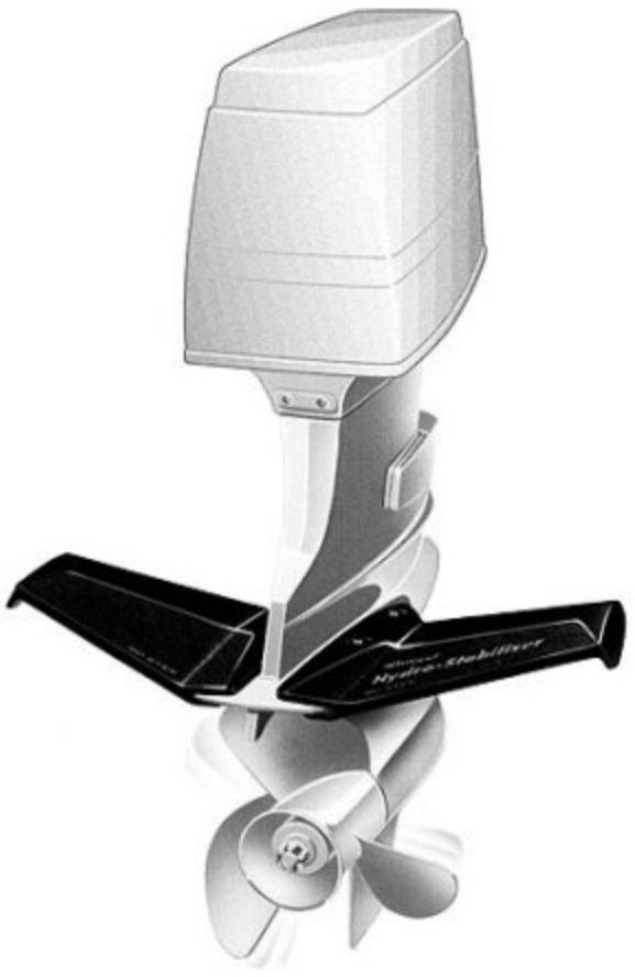 Flap Hidrofólio Estabilizador para Motor de Popa e Rabeta Acima de 50 HP Attwood 9400-7