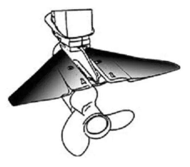 Flap Hidrofólio Estabilizador para Motor de Popa e Rabeta de 25HP até 225HP