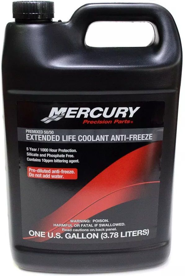 Fluido Líquido de Radiador Anti-Congelante Mercury Mercruiser Motores de Centro 3,78 Litros