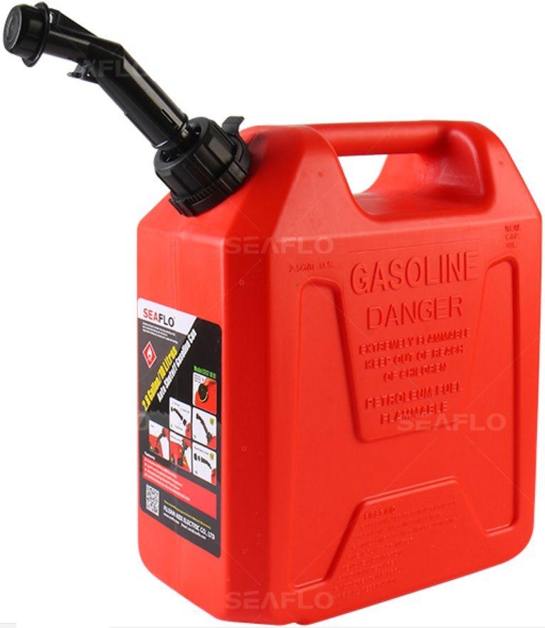 Galão de Combustível Seaflo 10 Litros Vermelho com Bico para Controle