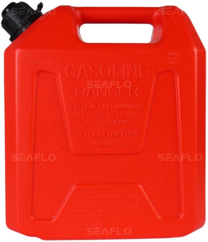 Galão de Combustível Seaflo 5 Litros Vermelho com Bico para Controle