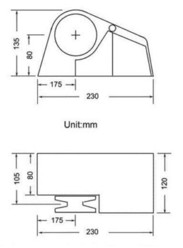 Guincho Elétrico Náutico Horizontal 300W 12V p/ Âncora, Corrente 6mm ou Corda South Pacific 710FS