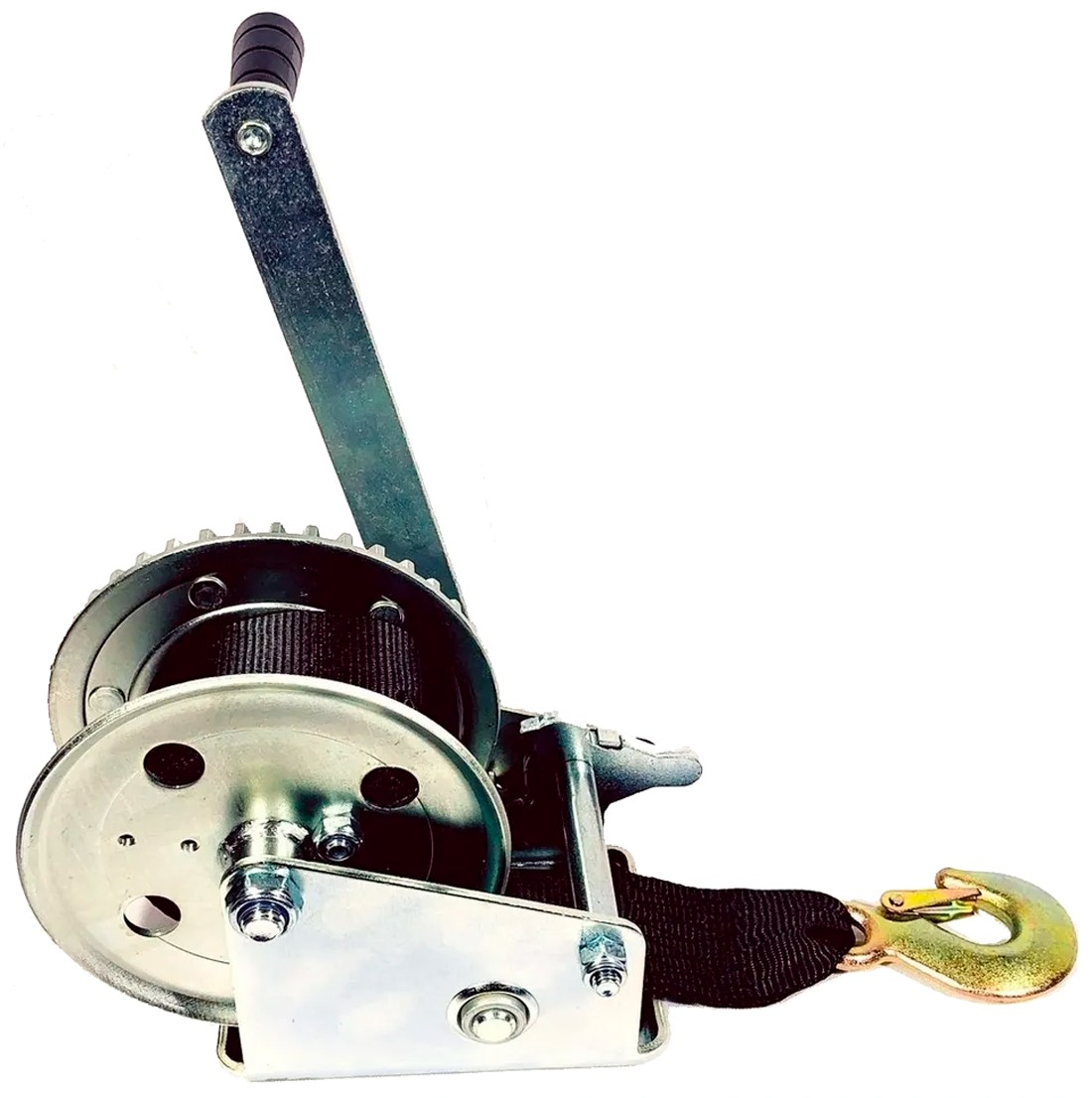 Guincho Manual Catraca 1200 lb para Carreta de Barcos ou Jet Ski 816kg com Fita em Nylon