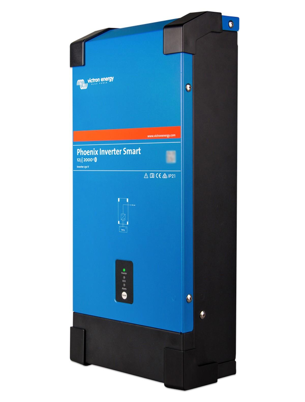 Inversor de Corrente Victron 2000VA 12Vcc para 230Vca Senoidal Pura Bluetooth Phoenix Smart p/ Barcos Lanchas