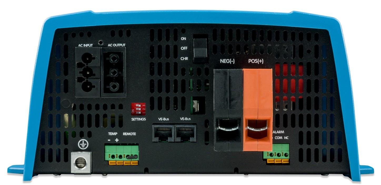 Inversor e Controlador de Carga (Carregador) de Bateria Victron 1200VA 12Vcc para 230Vca Senoidal Pura MultiPlus