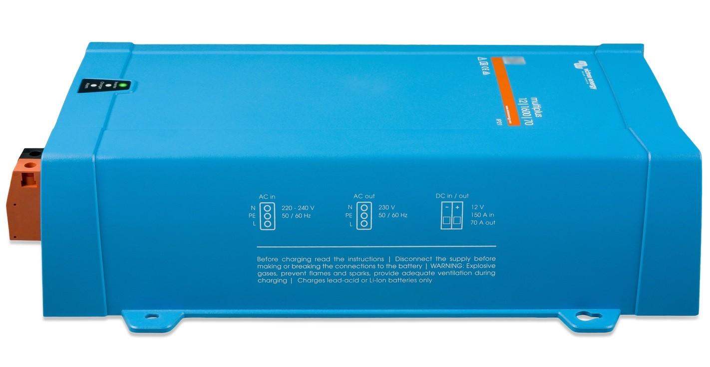 Inversor e Controlador de Carga (Carregador) de Bateria Victron 1600VA 12Vcc para 230Vca Senoidal Pura MultiPlus