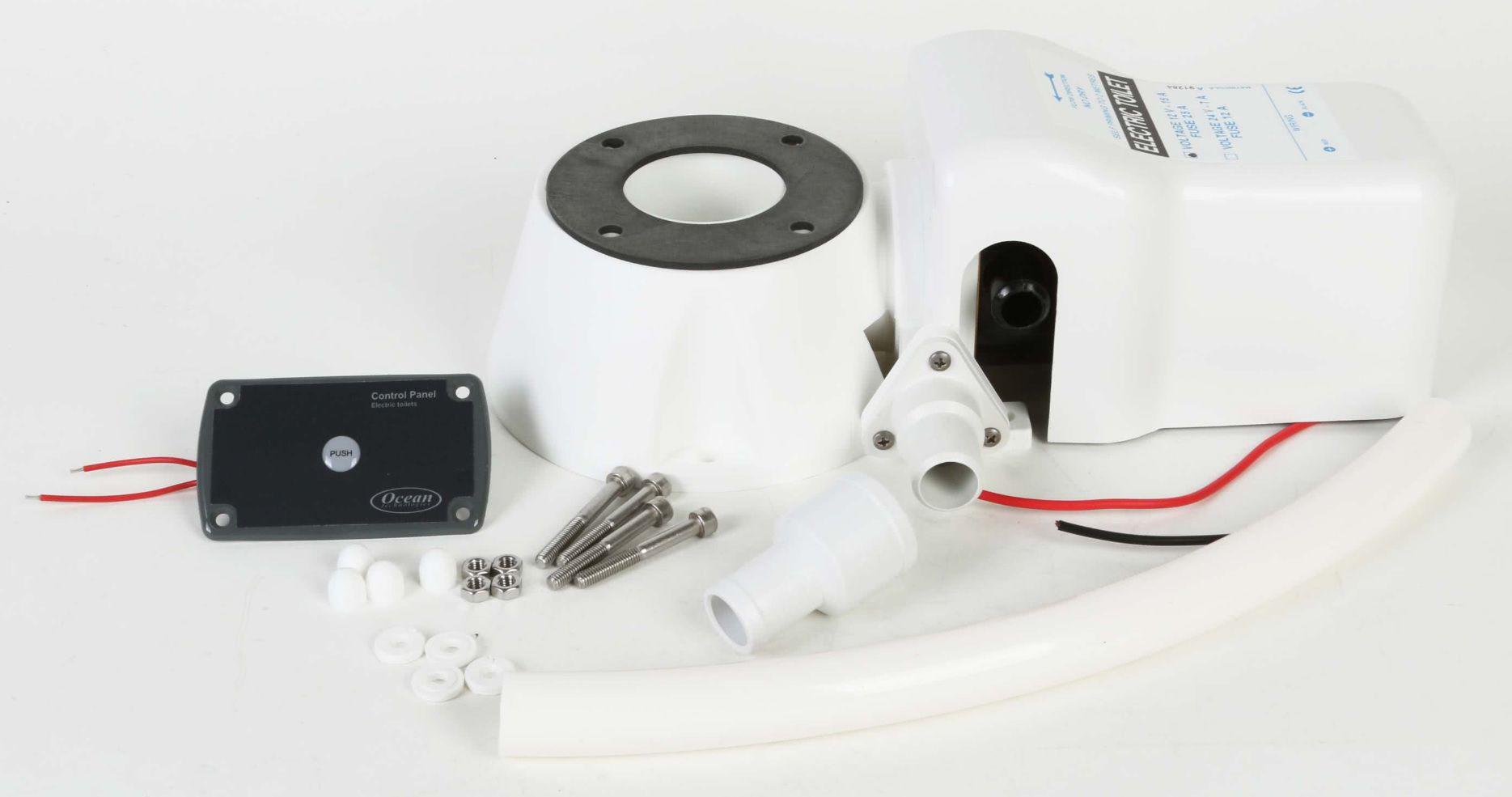 Kit Conversor de Vaso Sanitário Manual em Elétrico 12V Matromarine p/ Barcos e Lanchas