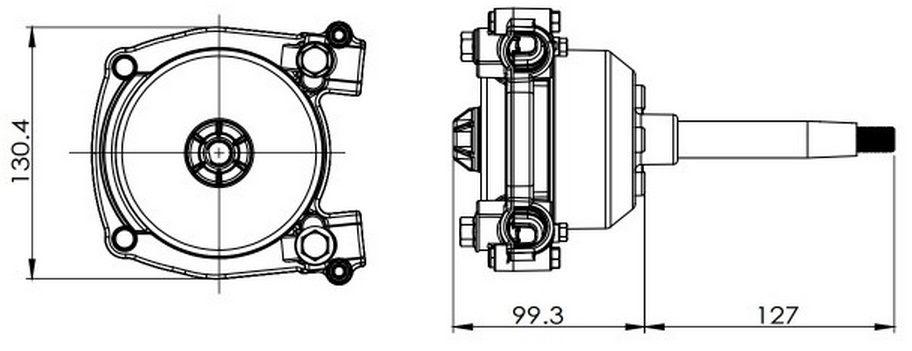 Kit de Direção 10 pés Pretech com Caixa, Cabo e Bezel Modelo SteerFlex 3000 Geração II