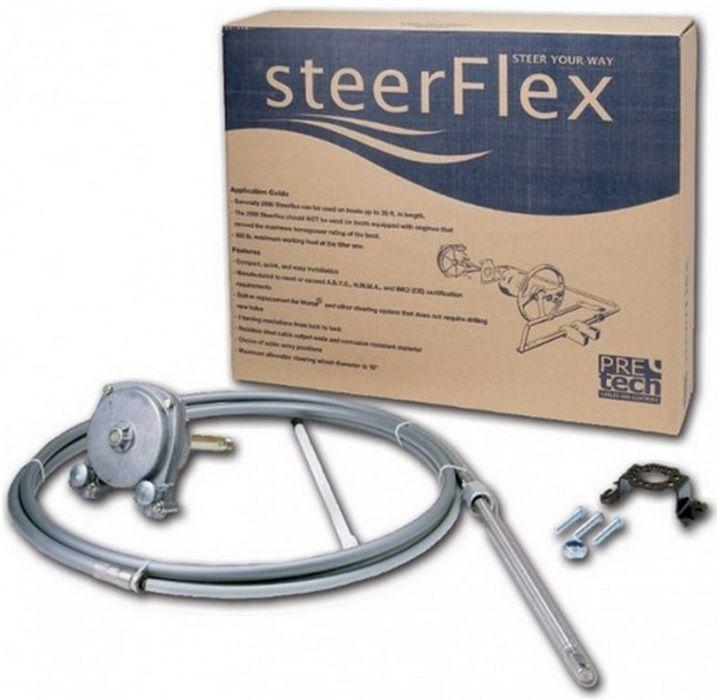 Kit de Direção 18 pés Pretech com Caixa, Cabo e Bezel Modelo SteerFlex 3000 Geração II