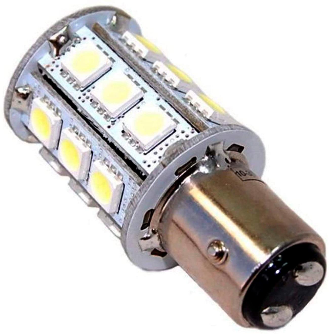 Lâmpada LED Automotiva 12V 25W BAY15D para Luminária de Embarcações Uso Náutico
