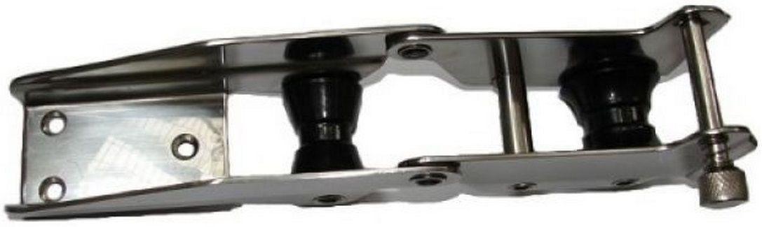 Lançador de Âncora (Púlpito de Proa) (Suporte de Proa) em Aço INOX Articulado com 2 Roldanas 33cm