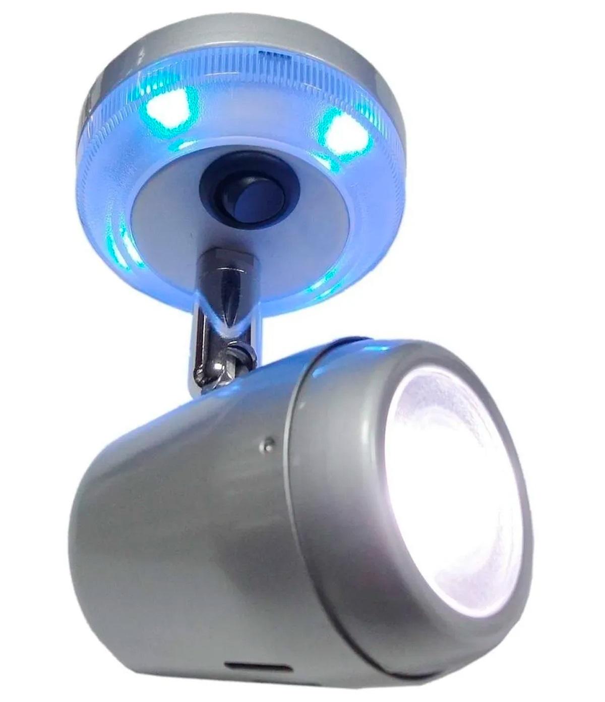 Luminária de Interior Ajustável para Leitura com LED 12V 24V em INOX com Interruptor para Barcos Lanchas Veleiros