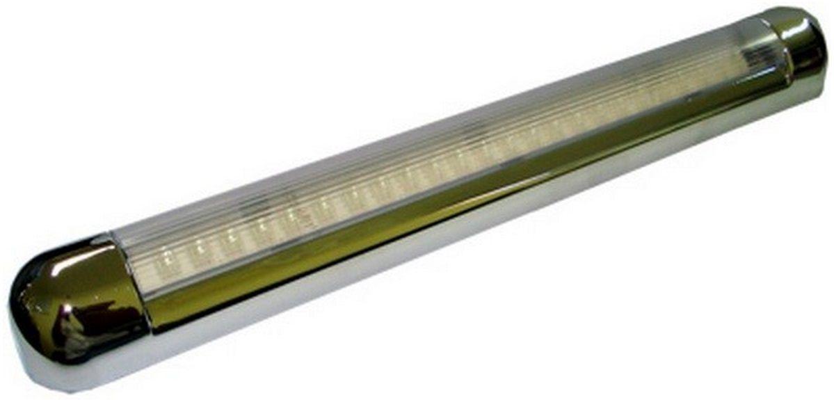Luminária de Interior de Cabine com LED 12V em Plástico ABS Cromada, com 24 LEDs