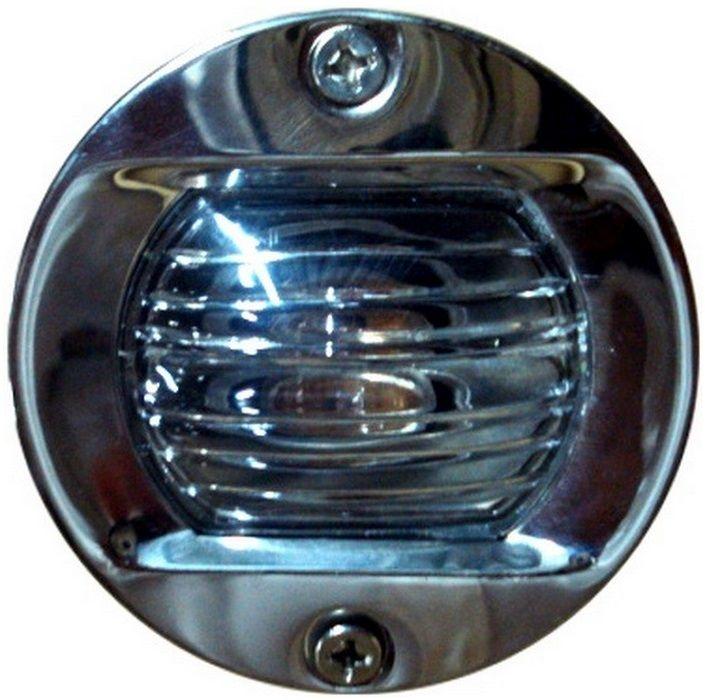 Luz de Alcançado Espelho de Popa Embutido Redonda em Aço Inoxidável