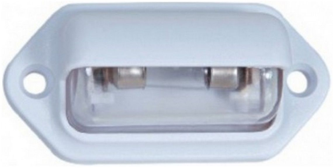 Luz de Cortesia 12V de Sobrepor em Plástico ABS Branco para Barcos, Lanchas e Veleiros