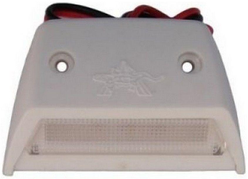 Luz de Cortesia em LED 12V de Sobrepor em Plástico ABS Branco para Barcos, Lanchas e Veleiros