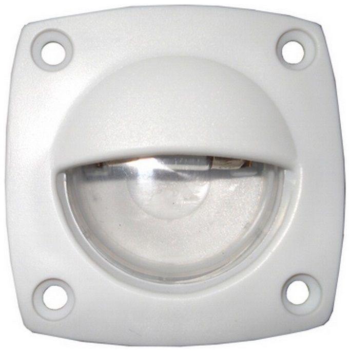 Luz de Cortesia (Utilitária) Fixa Interna ou Cabine em Plástico ABS Branco 12V