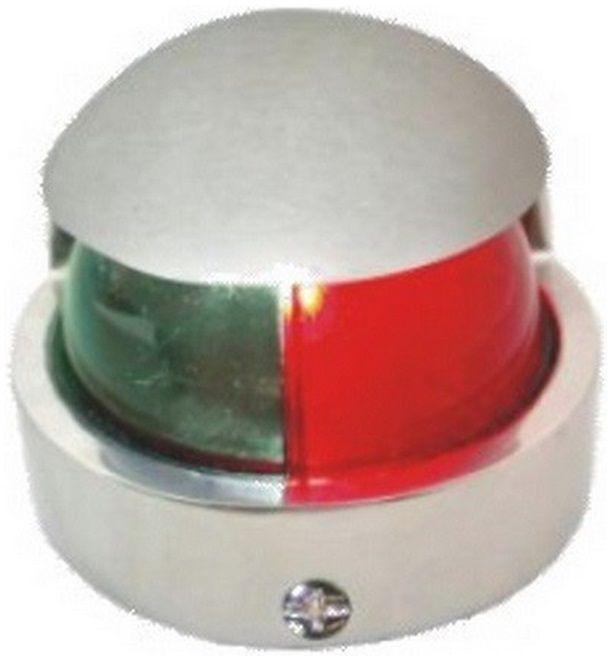 Luz de Navegação Bicolor de Proa Bombordo e Boreste em Aço Inox Reforçado 12V Heavy Duty
