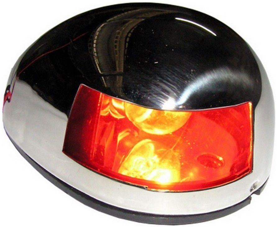 Luz de Navegação Bombordo BB em Inox 12V Montagem na Horizontal de Sobrepor