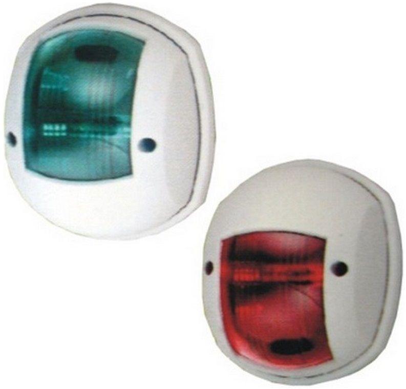 Luz de Navegação Bombordo Boreste BB/BE com LED em Nylon Branco para Targa ou Proa Externa 12V