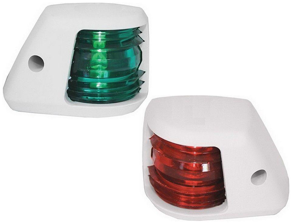 Luz de Navegação Bombordo Boreste BB/BE em Nylon Branco para Proa Externa ou Targa (Par)