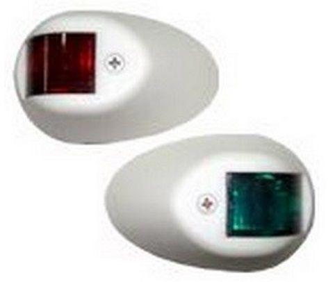 Luz de Navegação Bombordo Boreste BB/BE em Nylon Branco para Targa ou Proa Externa 12V