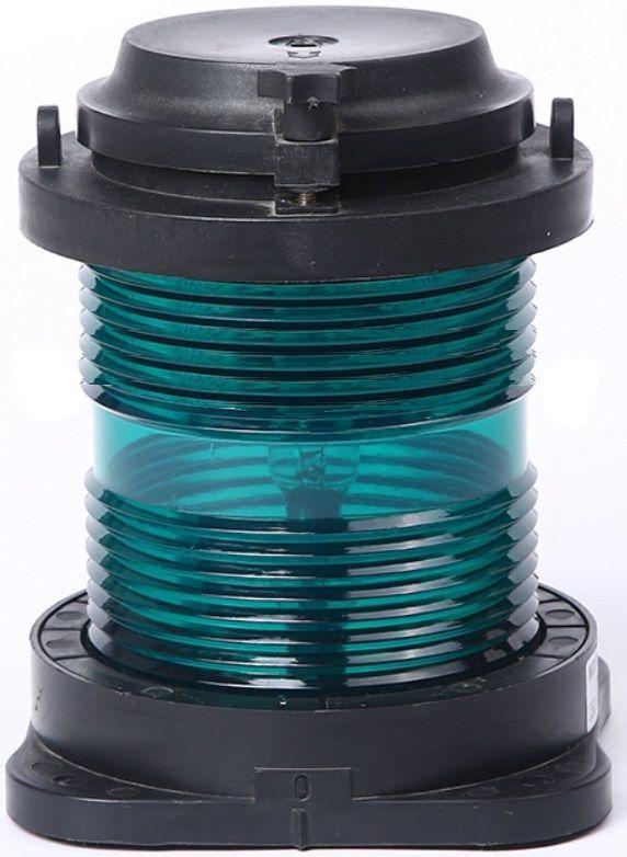 Luz de Navegação Circular Boreste Homologada Verde 360° 24V em Plástico Montagem Horizontal