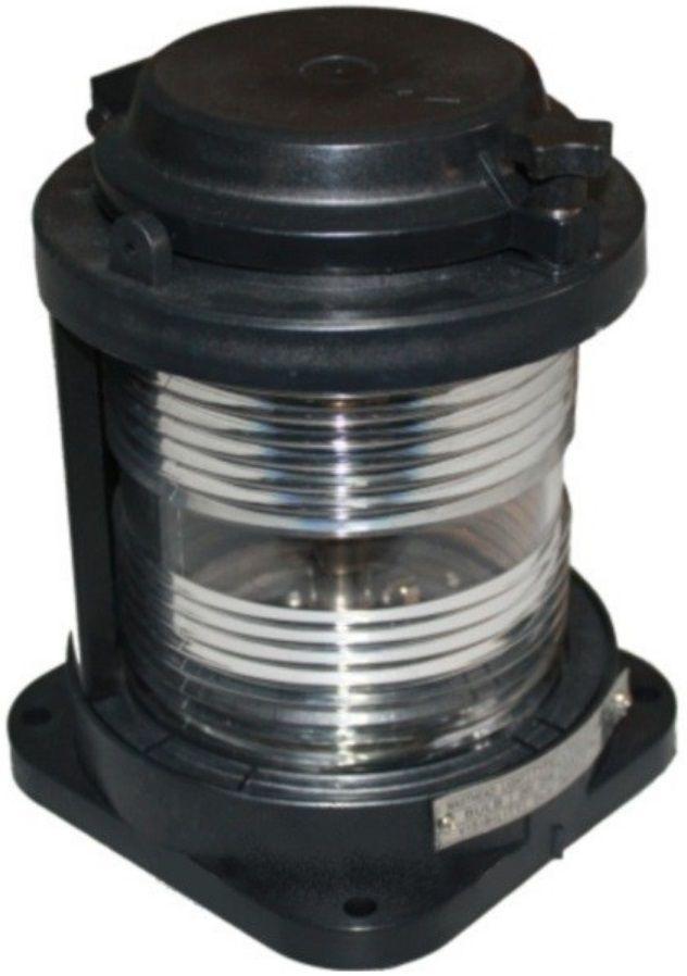 Luz de Navegação de Mastro Homologada Branca 225° LED 24V em Plástico Montagem Horizontal